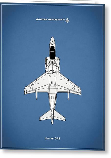 Raf Photographs Greeting Cards - Harrier GR5 Greeting Card by Mark Rogan
