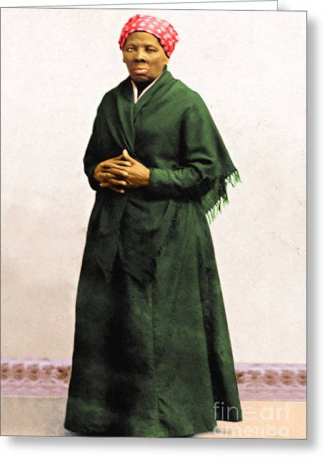 Harriet Tubman 20140210v1 Greeting Card by Wingsdomain Art and Photography