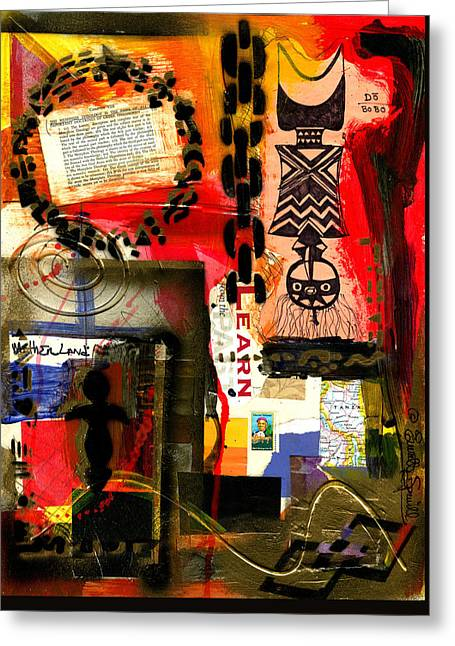 Wynton Marsalis Mixed Media Greeting Cards - Harriet Tubman - Compassionate Woman Greeting Card by Everett Spruill
