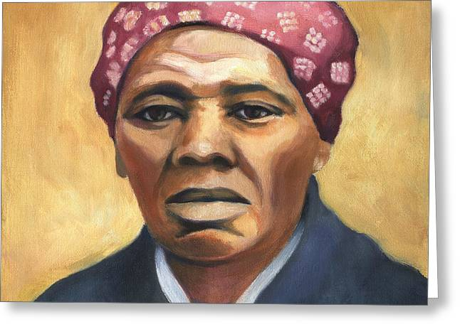 Abolitionist Paintings Greeting Cards - Harriet Tubman Greeting Card by Linda Ruiz-Lozito
