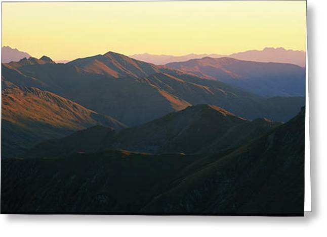 Black Top Greeting Cards - Harris Mountains New Zealand Greeting Card by Panoramic Images