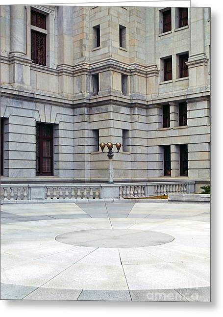 Lines And Shape Greeting Cards - Harrisburg Capital Courtyard Greeting Card by Paul W Faust -  Impressions of Light