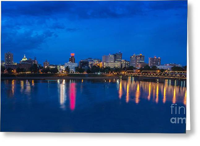 Steve Miller Greeting Cards - Harrisburg Twilight  Greeting Card by Steve Miller