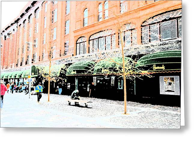 Harrods Greeting Cards - Harrods Greeting Card by Brad Gravelle