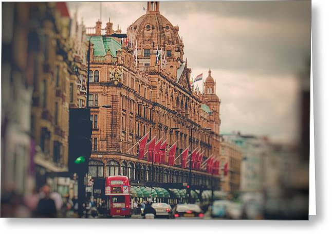 Harrods Greeting Cards - Harrods Department Store in London England Greeting Card by Lynn Langmade