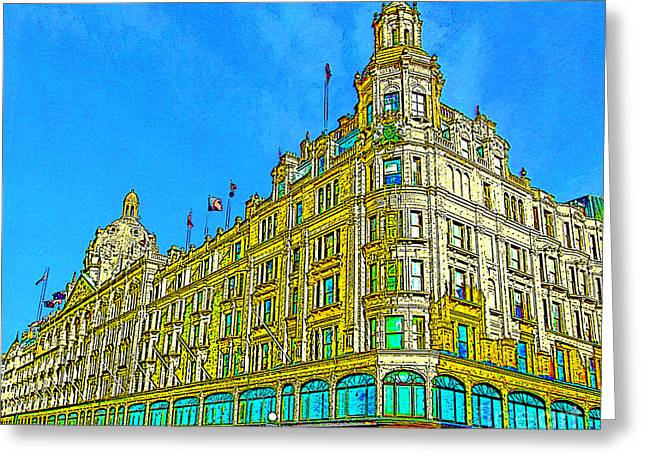 Knightsbridge Greeting Cards - Harrods London Greeting Card by Jeff Laurents