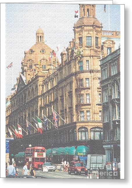 Harrod's Of London Greeting Card by Nu Art