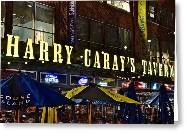 Harry Caray Tavern Greeting Card by Frozen in Time Fine Art Photography