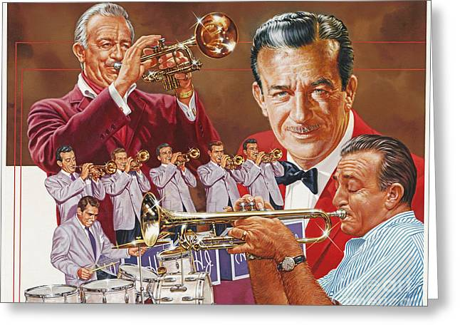 Trumpeters Greeting Cards - Harry James Trumpet Giant Greeting Card by Dick Bobnick