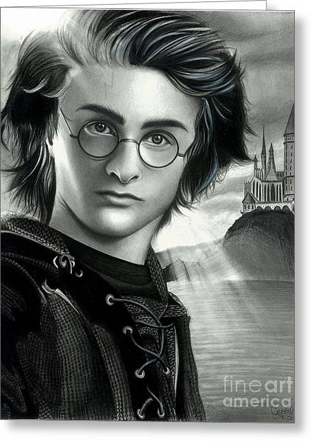 Goblet Drawings Greeting Cards - Harry Potter and the Goblet of Fire Greeting Card by Crystal Rosene