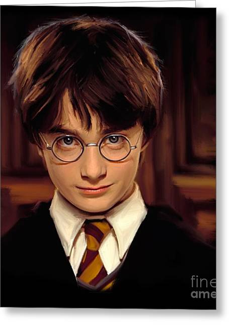 Broom Greeting Cards - Harry Potter Greeting Card by Paul Tagliamonte