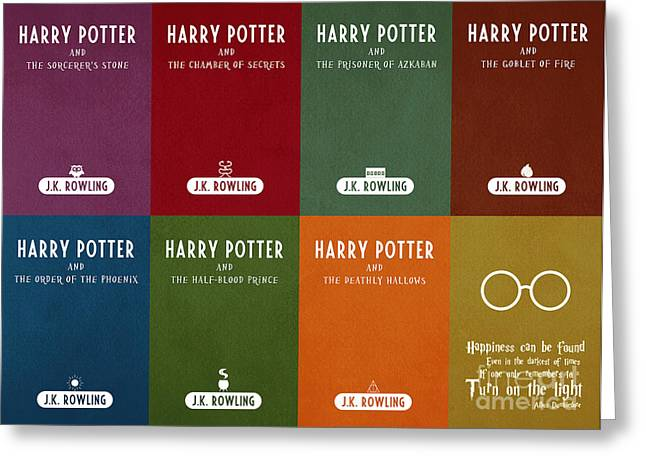 Book Jacket Greeting Cards - Harry Potter Series Book Cover Movie Poster Art 1 Greeting Card by Nishanth Gopinathan