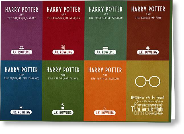 Harry Potter Series Book Cover Movie Poster Art 1 Greeting Card by Nishanth Gopinathan