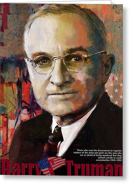 Garfield Greeting Cards - Harry S. Truman Greeting Card by Corporate Art Task Force