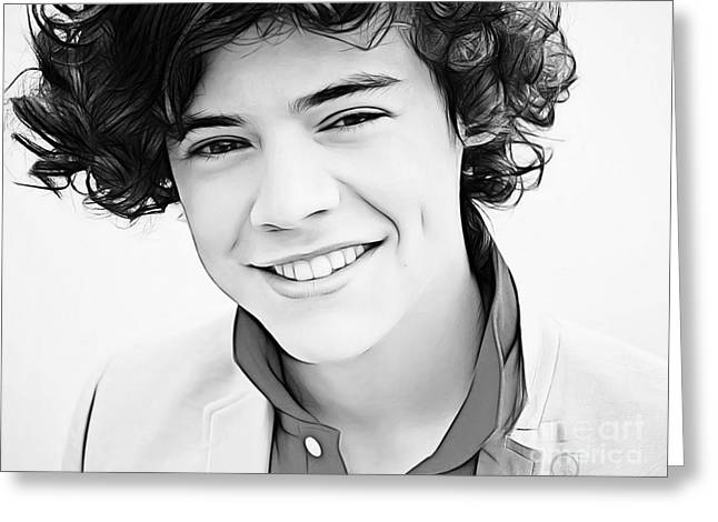 Artist Singer Greeting Cards - Harry Styles Greeting Card by The DigArtisT