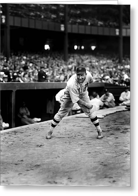 Detroit Tigers Photos Greeting Cards - Harry W. Rip Collins Greeting Card by Retro Images Archive