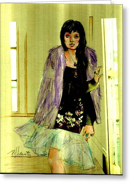 Wild Girl Greeting Cards - Harsh Light Of Day Greeting Card by P J Lewis