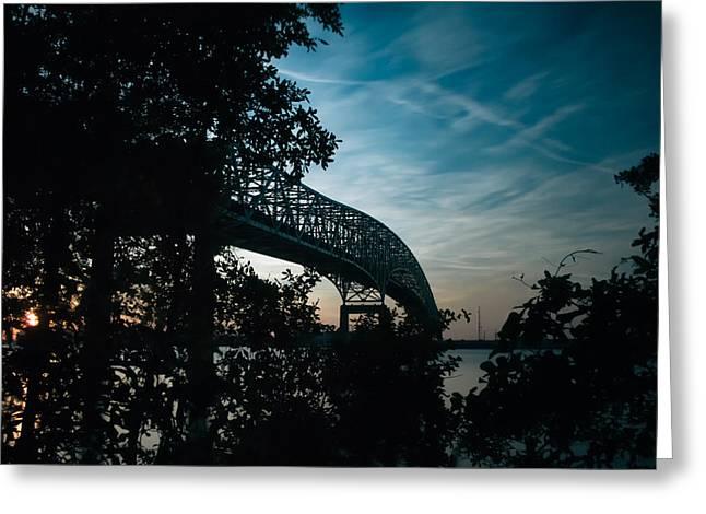 Jacksonville Greeting Cards - Hart Bridge - Jacksonville 5/12/2014 Greeting Card by Jeff Turpin