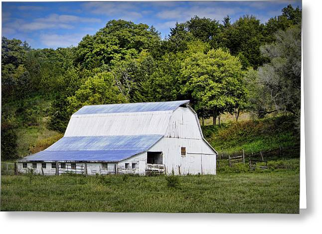 Hartsburg Greeting Cards - Hart Creek Barn Greeting Card by Cricket Hackmann