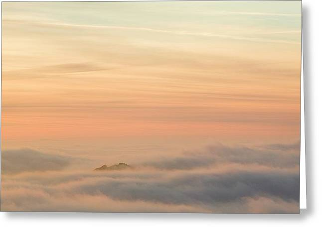 Harter Fell Above The Clouds Greeting Card by Ashley Cooper