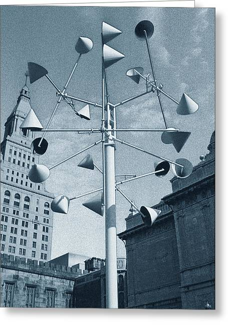 Whirlygig Greeting Cards - Hartford Art and Architecture Greeting Card by Tony Ramos
