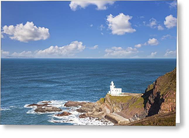 Devon Greeting Cards - Hartland Point Devon England Greeting Card by Colin and Linda McKie