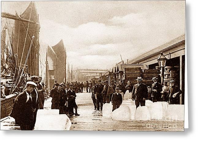 Hartlepool Greeting Cards - Hartlepool Fish Quay England Greeting Card by The Keasbury-Gordon Photograph Archive
