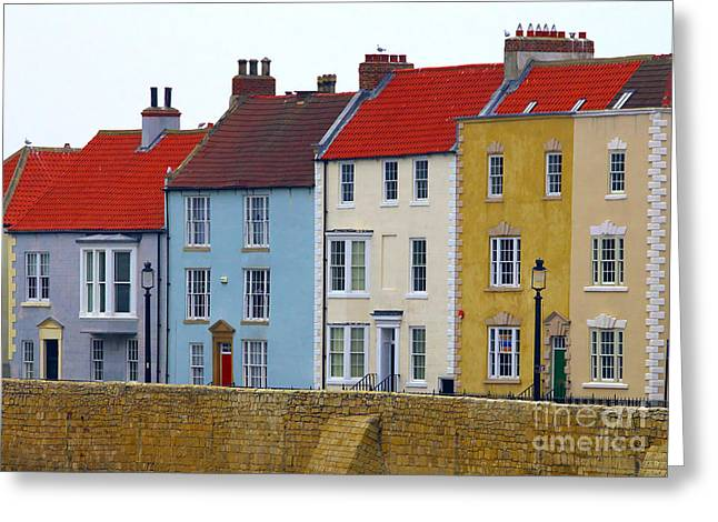 Hartlepool Greeting Cards - Hartlepool Headland Houses Greeting Card by Martyn Arnold