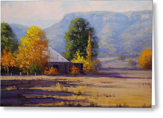 Fall Trees Greeting Cards - Hartley Autumn Greeting Card by Graham Gercken