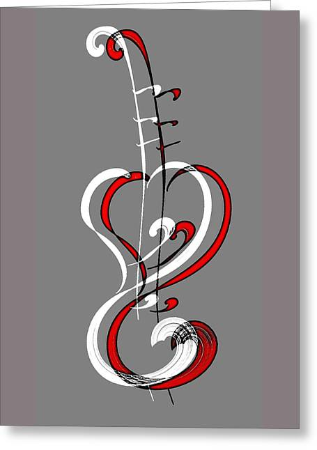 Harts Music Greeting Card by Ellsbeth Page