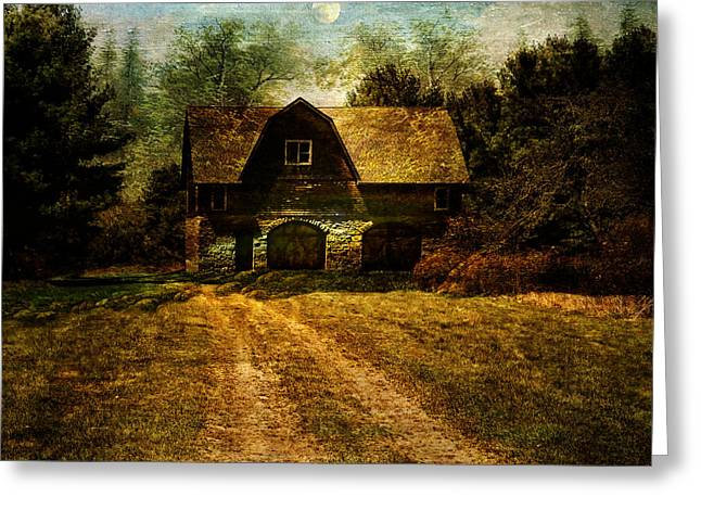 Historical Images Greeting Cards - Hartwood NY Coach Barn Greeting Card by Pamela Phelps