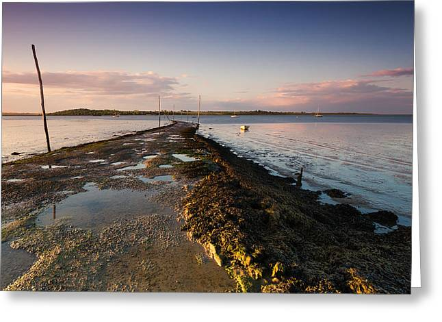 Slip Greeting Cards - Harty Ferry Greeting Card by Ian Hufton