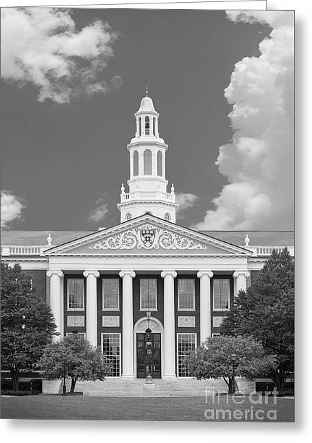 Baker Greeting Cards - Harvard University Baker Bloomberg Greeting Card by University Icons