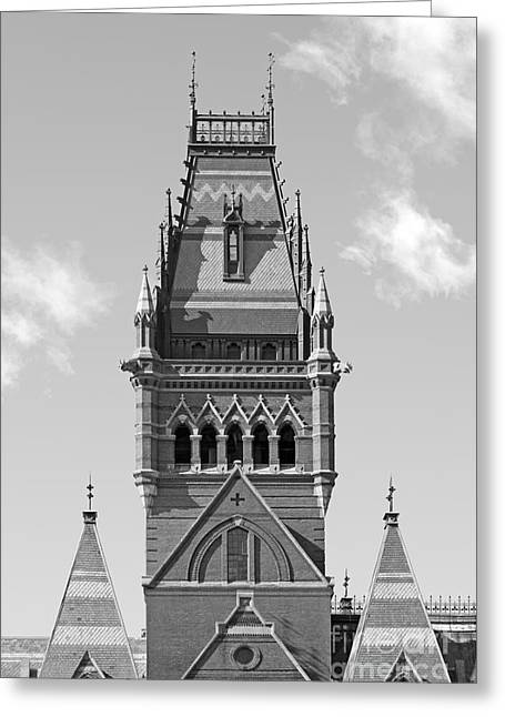 Boston Ma Greeting Cards - Harvard University Memorial Hall Greeting Card by University Icons