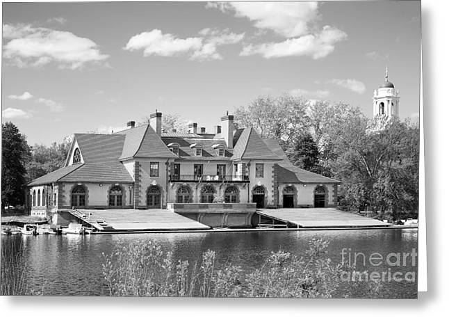 Boston Ma Greeting Cards - Harvard University Weld Boat House Greeting Card by University Icons