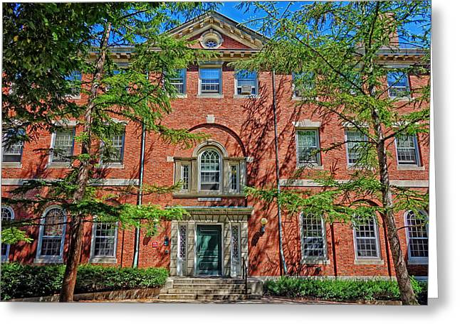 Recently Sold -  - Entrance Door Greeting Cards - Harvards Phillips Brooks House Greeting Card by Mountain Dreams