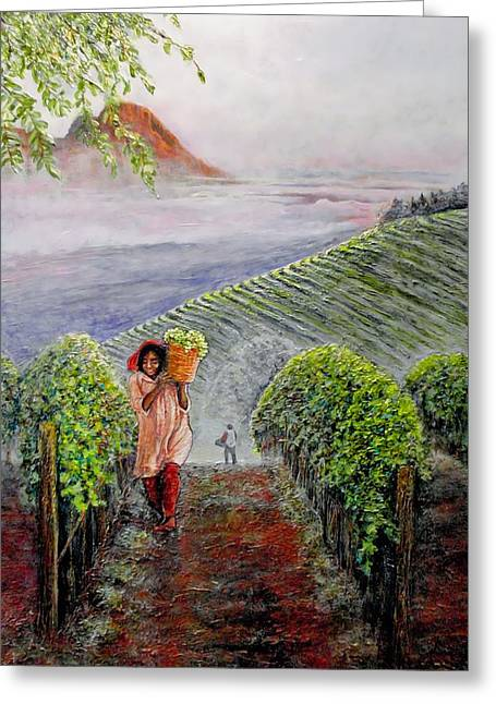 Cape Town Paintings Greeting Cards - Harvest at Dawn Greeting Card by Michael Durst