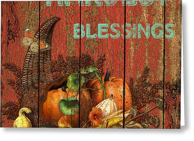 Recently Sold -  - Harvest Art Greeting Cards - Harvest Blessing Greeting Card by Jean PLout