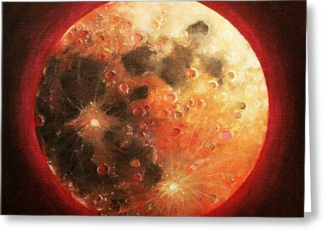 Gallery Sati Greeting Cards - Harvest Full Moon Greeting Card by Shelley  Irish