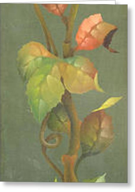 Harvest Art Greeting Cards - Harvest Grapevine Greeting Card by Doreta Y Boyd