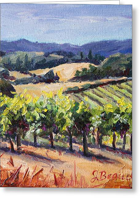 California Artist Greeting Cards - Harvest Hills Greeting Card by Jennifer Beaudet