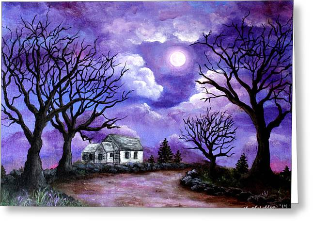 Harvest Moon Greeting Cards - Harvest Moon Greeting Card by Amy Scholten