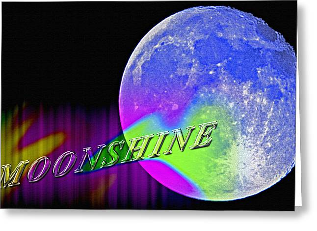 Harvest Moon Mixed Media Greeting Cards - Harvest Moon - Moonshine Greeting Card by Steve Ohlsen