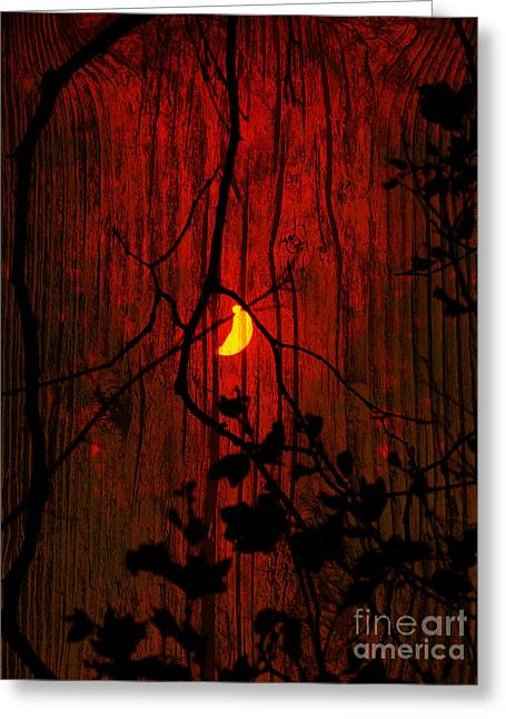 Harvest Moon Greeting Cards - Harvest Moon Greeting Card by Robert Ball
