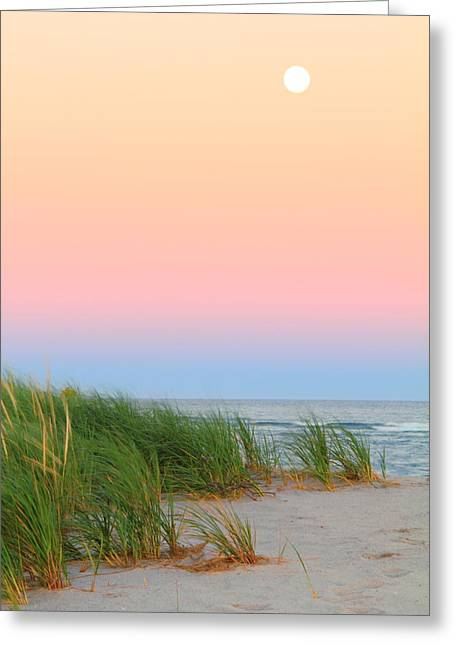 Sea Moon Full Moon Greeting Cards - Harvest Moon Greeting Card by Roupen  Baker