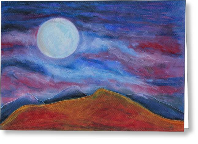 Rural Scene Pastels Greeting Cards - Harvest Moon2 Greeting Card by Jeanne Fischer