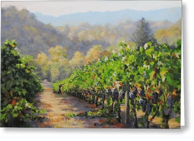 Harvest Morning Greeting Card by Karen Ilari