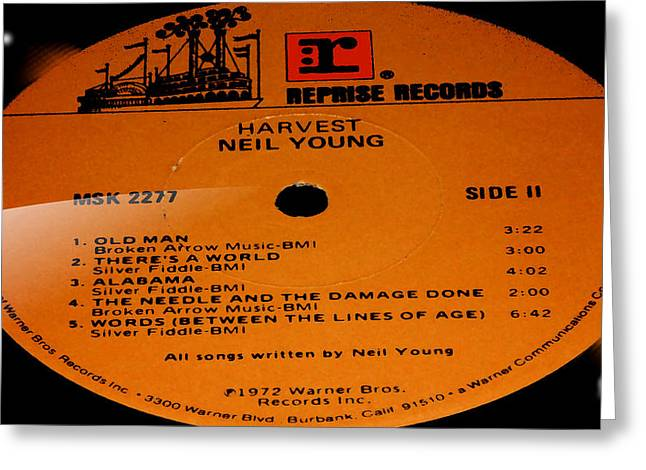 Recently Sold -  - Popular Art Greeting Cards - Harvest Neil Young Side 2 Greeting Card by Marcello Cicchini