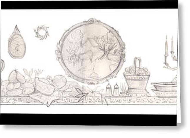 Harvest On The Farm Greeting Card by John Keaton