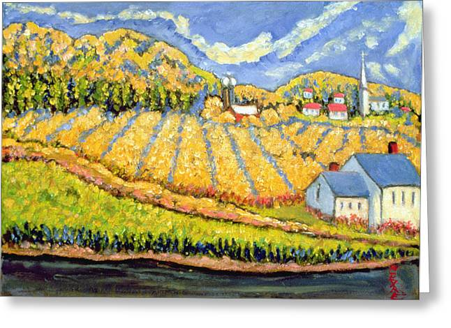 Quebec Paintings Greeting Cards - Harvest St Germain Quebec Greeting Card by Patricia Eyre